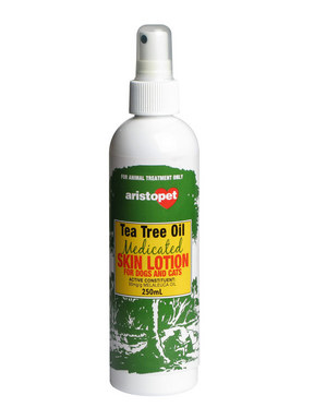 aristopet tea tree oil medicated skin lotion at pet shed. Black Bedroom Furniture Sets. Home Design Ideas