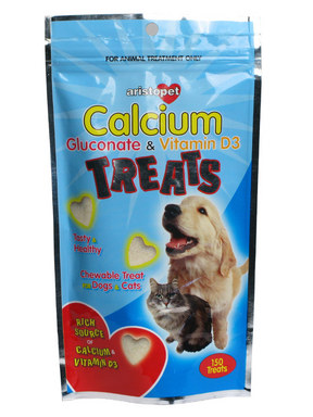 Aristopet Calcium Gluconate & Vitamin D3 Treats for Dogs & Cats