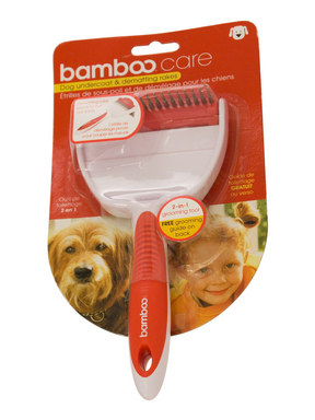 Bamboo Dog Undercoat and Dematting Rake