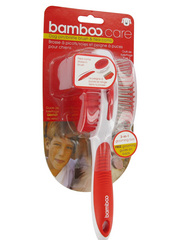 Bamboo Dog Pin/Bristle Brush & Flea Comb