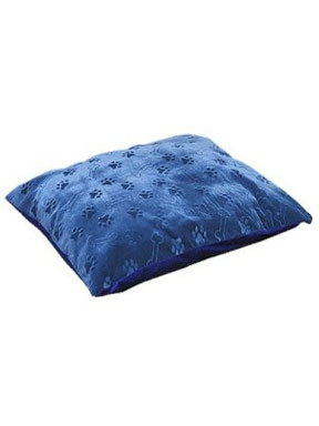Canine Cushion Memory Therm Puppy Print Rectangular Bed