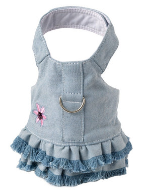 Doggles Blue Denim Harness Dress