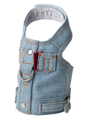 Doggles Blue Denim Harness Vest