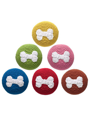Doggles Crochet Bone Ball