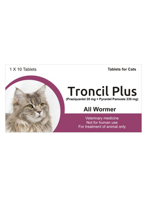 Generic Drontal for Cats<br>(Pyrantel Pamoate &amp; Praziquantel)