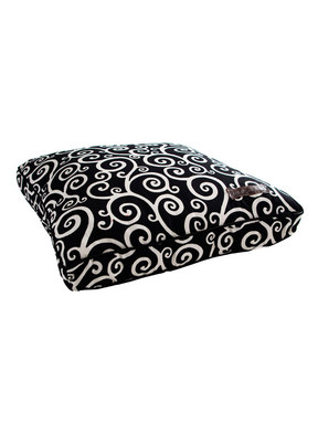 Jax and Bones Classic Custom Square Pillow Bed - Curly