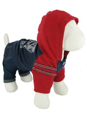 Kakadu Pet Gangster Jeans with Hooded Shirt