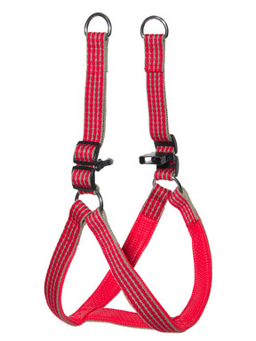 Kakadu Pet Red Rope Adjustable Padded Harness