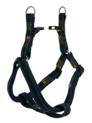 Kakadu Pet Indigo Denim Adjustable Harness