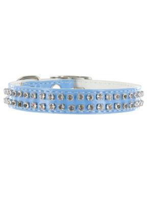 Kakadu Pet Rodeo Drive Leather Collar with Diamonds