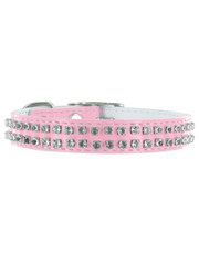 Kakadu Pet Rodeo Drive Leather Collar with Diamonds