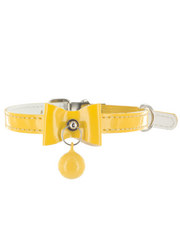 Kakadu Pet Bells & Bows Patent Leather Collar