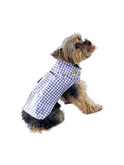 New York Dog Gingham Rain Slicker