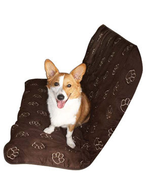 Pet Edge Pawprint Carseat Cover-Back Seat