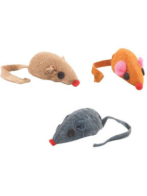 Pet Edge Leather Catnip Mouse